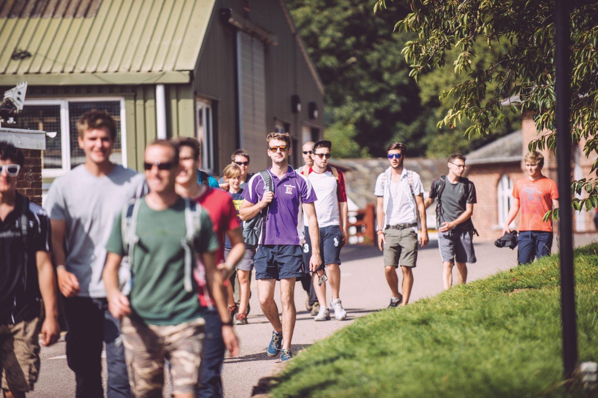 Bicton College students walking around campus